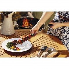 Kitchen Craft Master Class Double Pronged Slider Barbecue Skewer