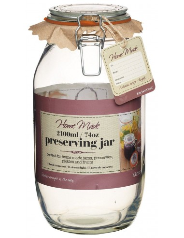 Home Made Glass 2100ml Preserving Jar Kitchen Craft