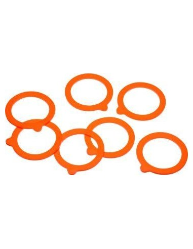 Kitchen Craft 10x Home Made Glass Spare Silicone Preserving Sealing Ring