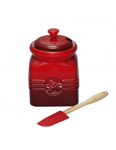 Le Creuset Stoneware Berry Jam Jar with Silicone Spreader