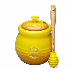 Le Creuset Stoneware Honey Pot with Silicone Dipper