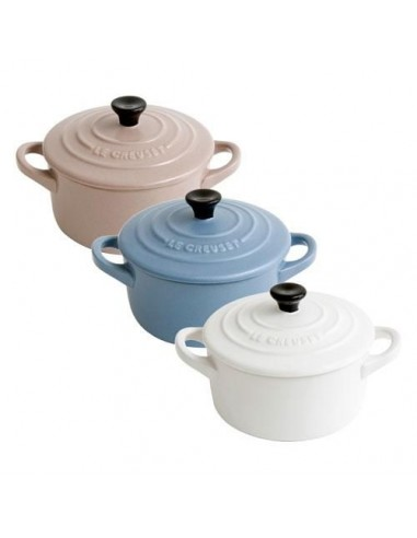 Le Creuset Set of Three Mini Casserole Dishes - Mineral Blue - Cotton - Sisal