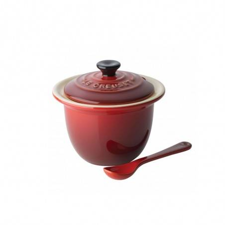 Le Creuset Stoneware Condiment Pot with Spoon - Mimocook