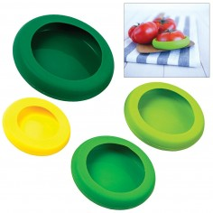 Kitchen Craft Silicone Food Huggers, Set of Four