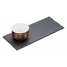 Kitchen Craft Master Class Artesà Two Piece Slate and Copper Serving Set