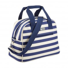 Kitchen Craft Coolmovers Blue Stripe Holdall Style Cool Bag