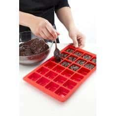 Forma para 24 mini brownies em silicone Lékué