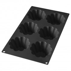 Forma para 6 brioche em silicone Lékué