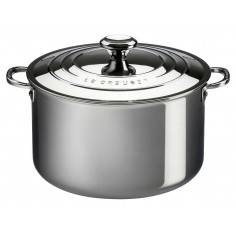 Le Creuset Signature Stainless Steel Stockpot with Lid