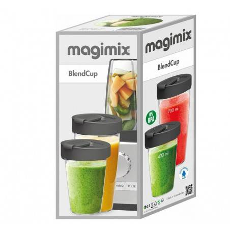 Magimix Blender and Go Bottles - Mimocook