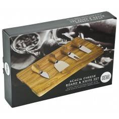 Taylors Eye Witness 4 Piece Cheese Knife Set with Acacia Wood Rectangular Board
