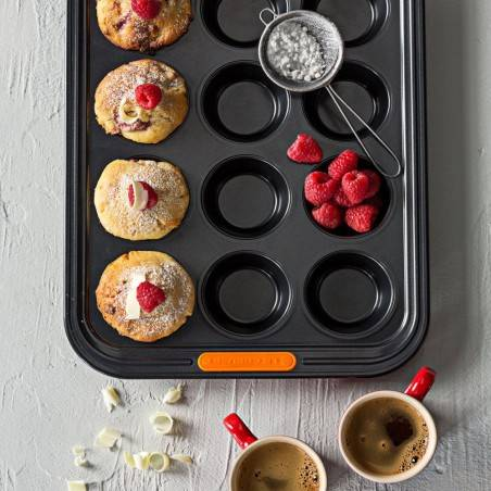 Le Creuset Toughened Non-Stick Bakeware 12 Cup Muffin Tray - Mimocook