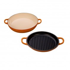 Le Creuset Multi-Function Shallow Casserole with Grill Lid