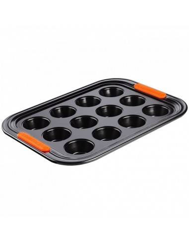 Le Creuset Toughened Non-Stick Bakeware 12 Cup Mini Muffin Tray - Mimocook