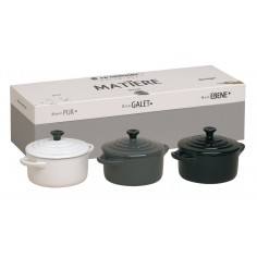 Le Creuset Set of Three Mini Casserole Dishes Matiere