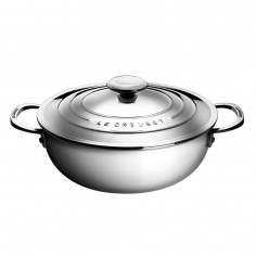 Le Creuset Signature 3-ply Stainless Steel Shallow Casserole 30cm