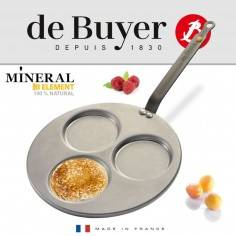 Frigideira para panquecas Mineral B Element da De Buyer