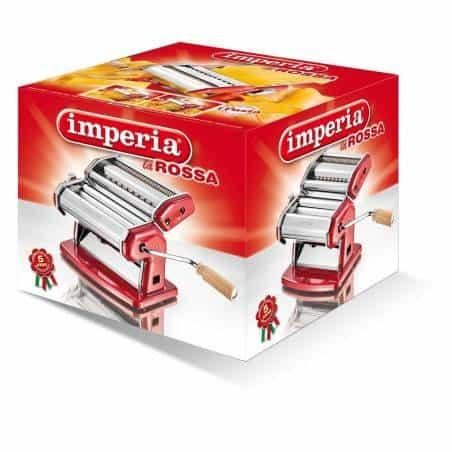 Imperia Italian 150mm Double Cutter Pasta Machine La Rossa - Mimocook