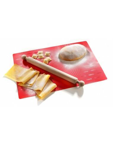 Imperia Italian Large Silicone Mat and Wooden Rolling Pin