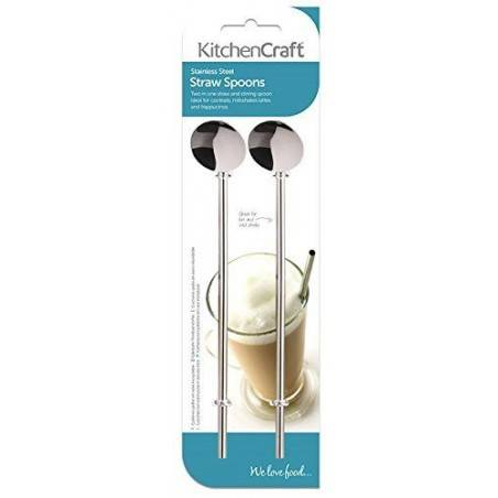 KitchenCraft Stainless Steel Drinking Straws stirrers - Mimocook