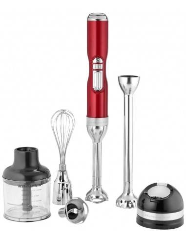 KitchenAid Artisan red Cordless Hand blender with accessories