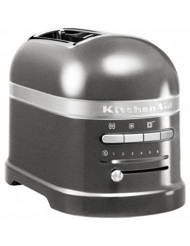 KitchenAid Artisan 2 slot toaster medaillon silver - Mimocook