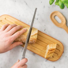 BergHOFF Leo Long Bamboo Wood Kitchen Cutting Board with Handle