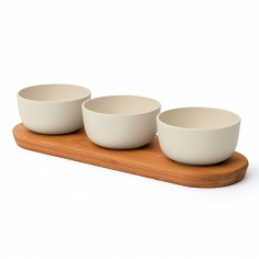 BergHOFF Leo bamboo 3 bowl with tray