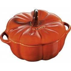 Cocotte abóbora laranja de cerâmica da Staub