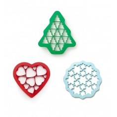 Set of 3 Lékué molds - Christmas tree - Snowflakes - Hearts