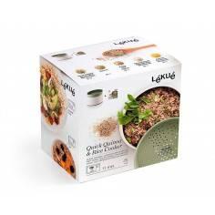 Cozedor de Quinoa e arroz e grãos no microondas Lékué - Mimocook