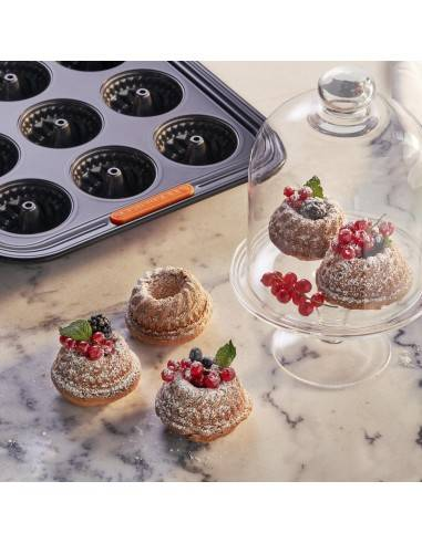 Le Creuset Toughened Non-Stick Bakeware 12 mini bundt Tray - Mimocook