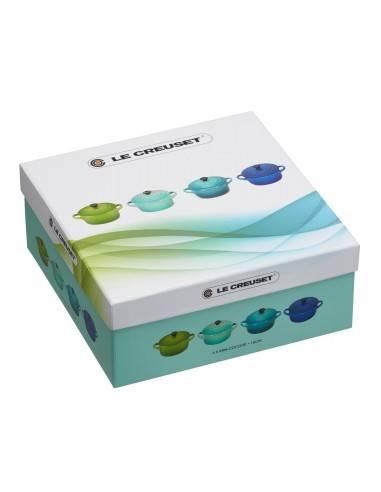 Le Creuset Set of 4 Mini Casserole Dishes blue green Ceramic - Mimocook