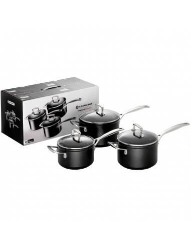 Le Creuset Toughened Non-Stick Saucepan Set