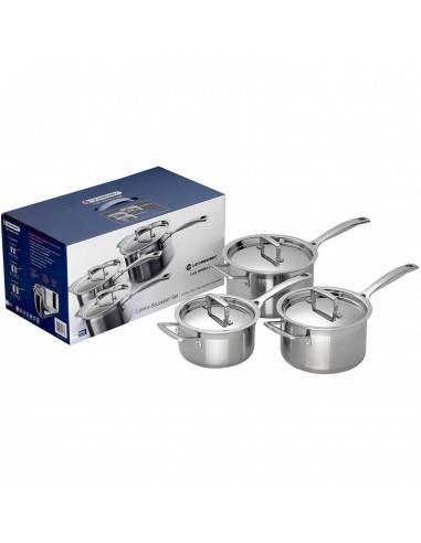 Le Creuset Stainless Steel Saucepan Set - 3 pieces