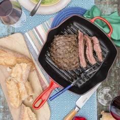 Le Creuset Square Skillet Grill Pan Enamelled Cast Iron 26cm
