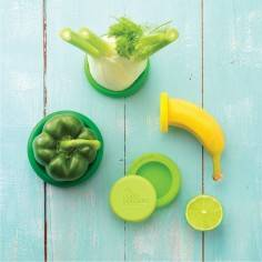 Food Huggers Sets of five Fresh Greens food savers