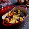 Signature Cast Iron Oblong Casserole 31cm Cerise