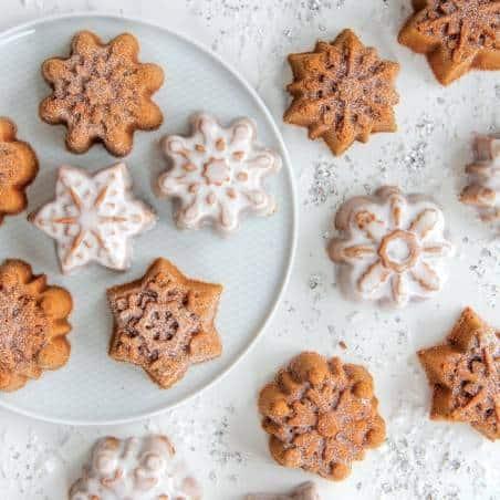 Forma Snowflake Cakelet da Nordic Ware - Mimocook