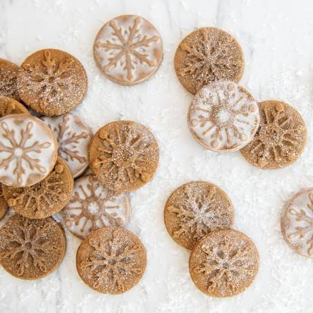 Nordic Ware Falling Snowflake cookie Stamps - Mimocook
