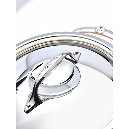 De Buyer Prima Matera sauté-pan with 2 handles and stainless steel lid