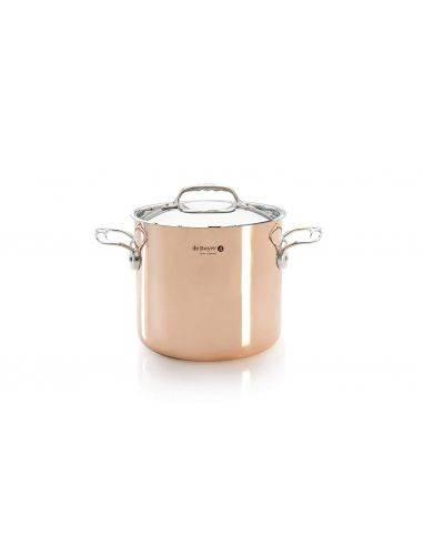 De Buyer Prima Mantera stockpot copperwith lid