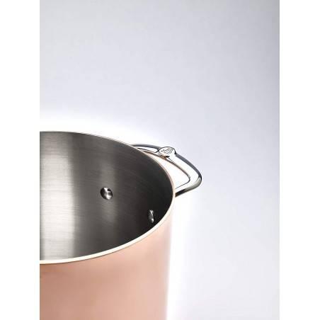 Panela alta em cobre e inox Prima Matera da De Buyer