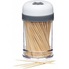 KitchenCraft Wooden Toothpicks Cocktail Sticks with Storage Container - Mimocook