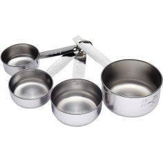 Conj. 4 Chavenas de medida inox da Kitchen Craft