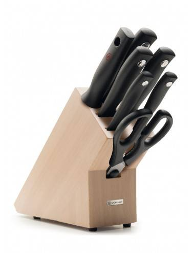 Wusthof Silverpoint Knife block 7 pc. set - Mimocook
