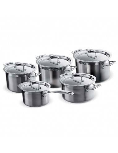 Le Creuset 3-Ply Stainless Steel Saucepan Set - 5 Pieces - Mimocook