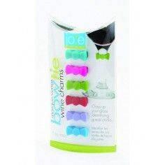 Joie Bowtie Wine Charm, Assorted Colours - Mimocook