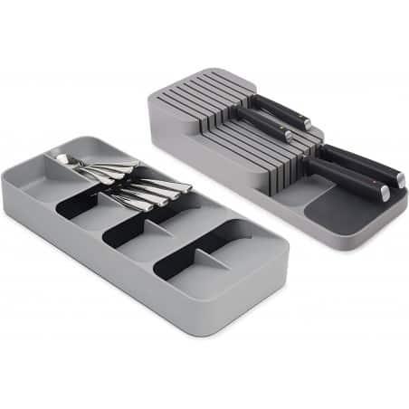 Joseph Joseph Dream Drawers Drawerstore Compact Cutlery Knife Organiser Set of 2 - Mimocook