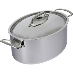 De Buyer Affinity Oval stewpan with lid - Mimocook
